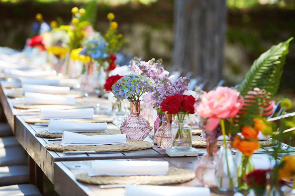 colorful wedding table decor
