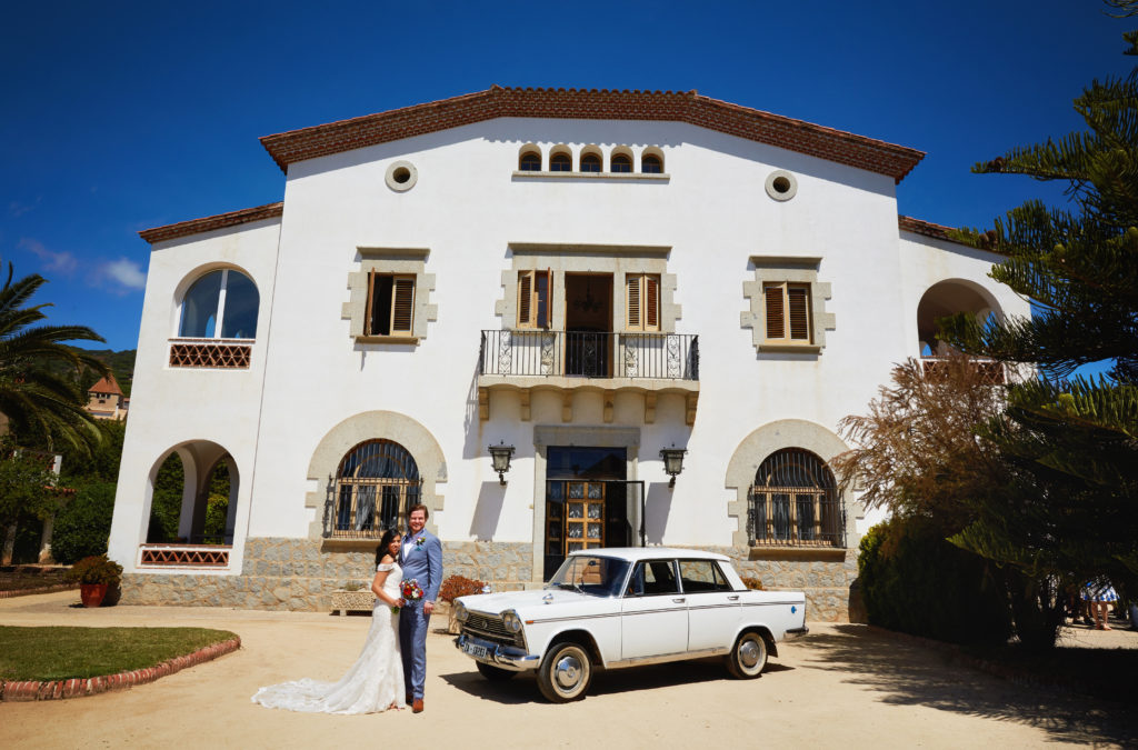 Barcelona villa wedding