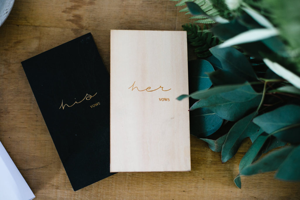 his and her vow books, casa del mar, barcelona brides