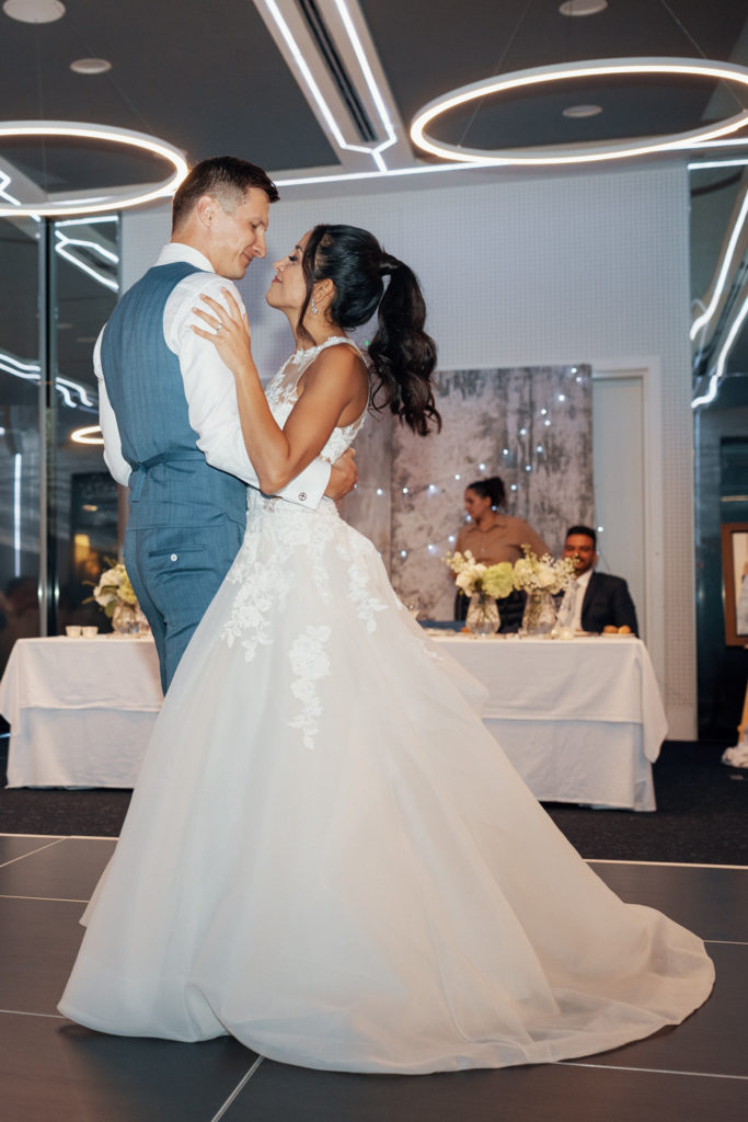 bride and groom share first dance, barcelona brides