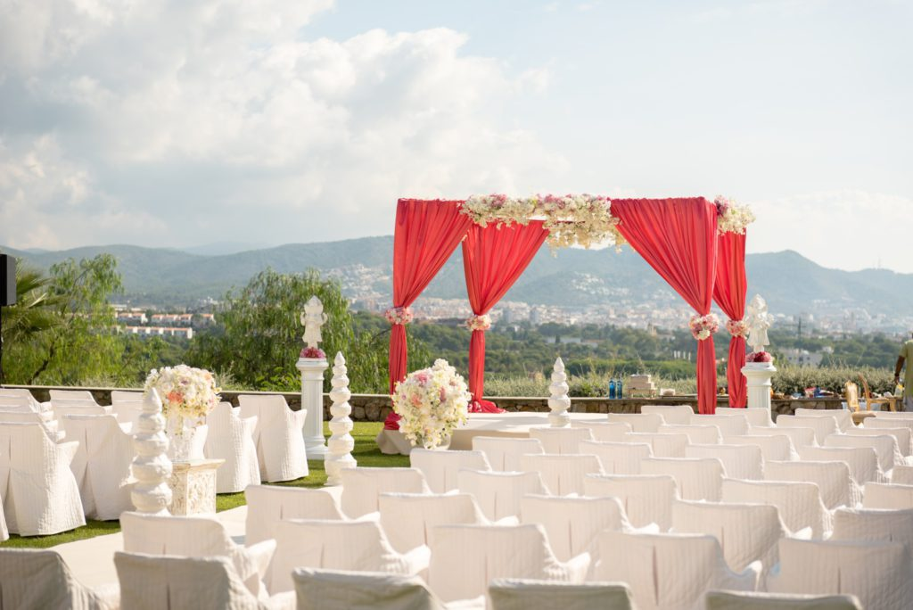 Picture of an outdoor Indian wedding setup, Planning an Indian Wedding