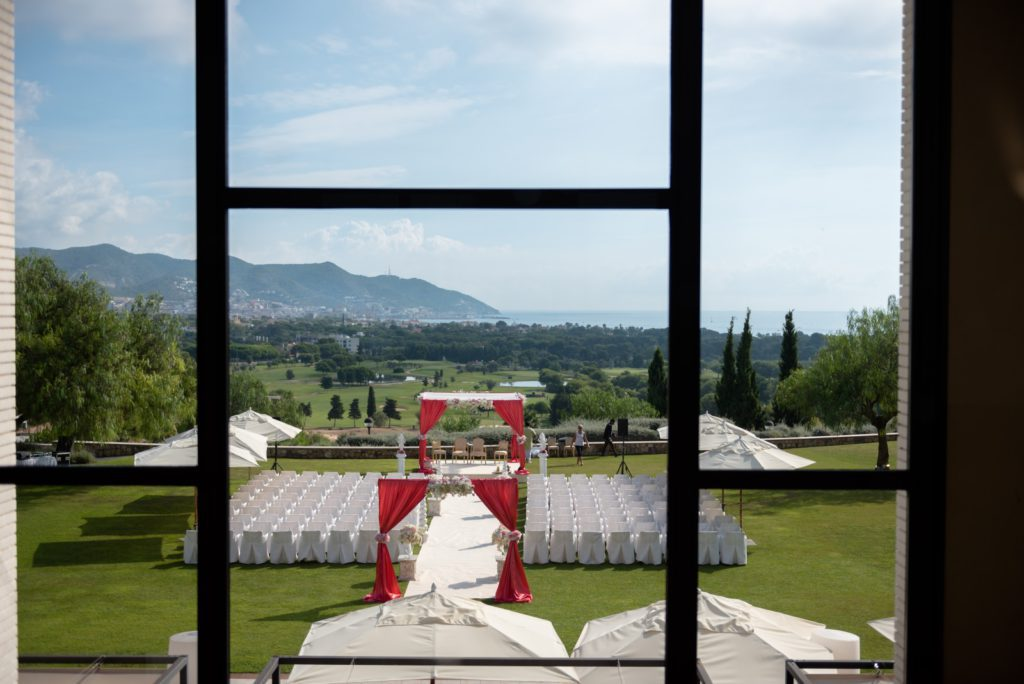 View of Outdoor Indian Wedding seating and Mandap, Planning an Indian Wedding